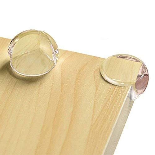CalMyotis Eckenschutz und Kantenschutz für Kindersicherung, für Tisch und Möbel Ecken, Stoßschutz für Baby und Kinder, für Baby Schutz, Transparent (12 Stück)