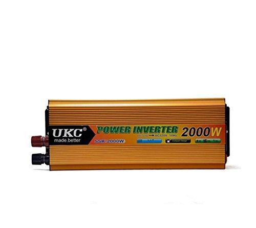Convertisseur KDLD Power Inverter 24 V 220V2000W transformateur voiture Chargeur allume-cigare Adaptateur Plug USB Ports