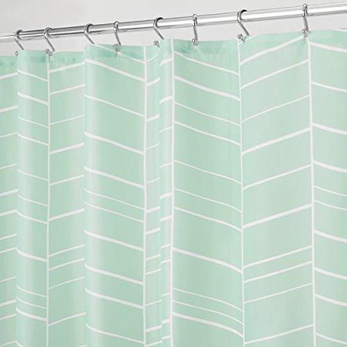mDesign – Cortina de ducha con estampado de espinas – Accesorio de baño con...