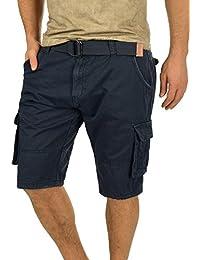 9345ed05ca Indicode Costa Pantalón Cargo Bermudas Pantalones Cortos para Hombres con  Cinturón de 100% Algodón Regular