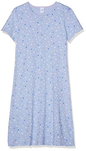 Sanetta Mädchen Nachthemd Sleepshirt Short Blau (Oxford Mel 50252) 164