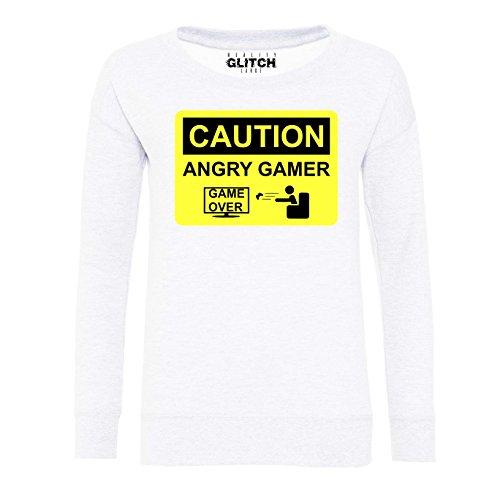 Reality Glitch - Sweat-shirt - Femme Weiß