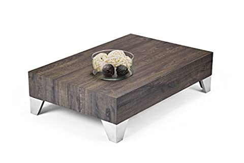 Mobilifiver Evolution 90Coffee Table, Wood, Brown, 90x 60x H 24cm