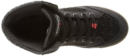 Le Temps des Cerises Heritage, Damen Hohe Sneakers Schwarz (tweed Black)