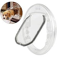 Zhaoke 4 Modos Puerta para Gatos Perros Pequeños, Gatera Magnética de PC Transparente con Interruptor