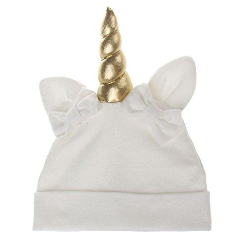 Prettyia Niedlich Baby Kinder Winter Warme Einhorn Beanie Caps für Fasching Karneval Halloween Kostüm - Weiß, wie beschrieben (Einhorn Beanie Baby Kostüm)