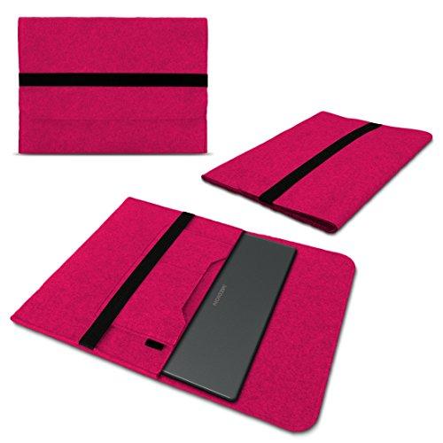 Sleeve Hülle kompatibel für Medion Akoya E3222 Schutzhülle Filz Tasche Laptop Cover Notebook Case 13.3 Zoll, Farbe:Pink