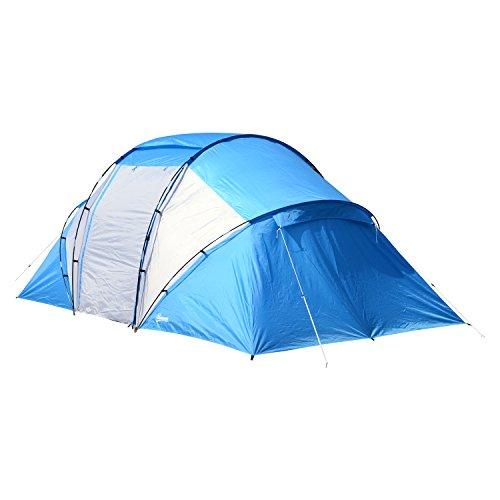 Outsunny Campingzelt Familienzelt Tunnelzelt mit 2 Schl…   04250871250707