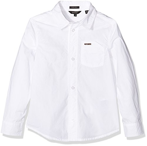 GUESS, LS SHIRT SUPER SLIM FIT - L64H36W7D90 - Camicia da bambino, colore a009 optic white, taglia M
