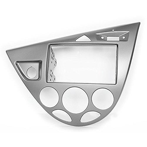 carav 11–549 Doppel DIN Autoradio Radioblende DVD Dash Installation Kit für Ford Focus 1998–2004 in silber Faszie mit 173 * 98 mm und 178 * 102 mm
