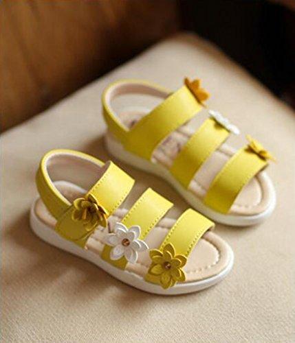 hibote Scarpe da sandalo delle scarpe da spiaggia della principessa Casual Beach giallo
