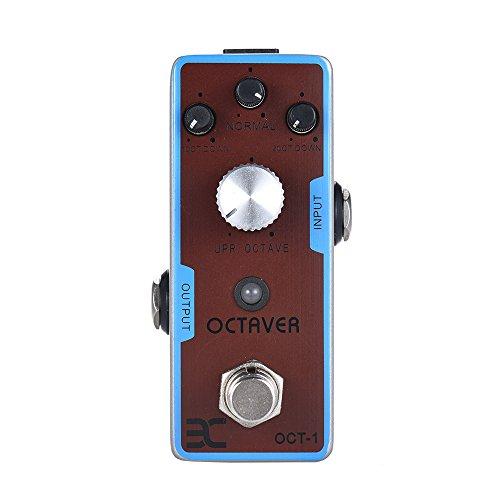 ammoon Gitarre Effektgerät Pedal ENO EX OCT-1 OCTAVE Mini-Oktave-Gitarren-Effektpedal True Bypass Vollmetallgehäuse