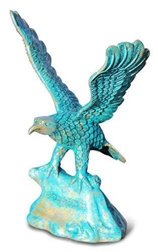 Asien Lifestyle Adler Figur aus Bronze, China. Patinierte Bronzefigur aus Asien