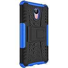 "Funda Duro Tapa Case Cover - TOOGOO(R)Para Meizu M2 Note(5.5""), Funda Carcasa Duro Tapa Case Cover con soporte (azul) + Gratis aguja de la pantalla stylus universales"