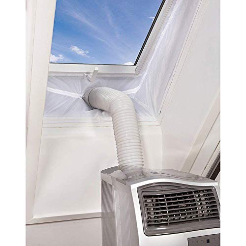 AirLock Fensterabdichtung, Queta 4M Fensterabdichtung Für mobile Klimageräte, Abluft-Wäschetrockner, Klimaanlagen, Ablufttrockner, Luftentfeuchter , Bautrockner