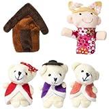 Homgaty 5Pcs Goldilocks & Bears Animals Finger Puppets Story Telling Nursery Fairy Tale The Perfect Birthday, Christmas Gift