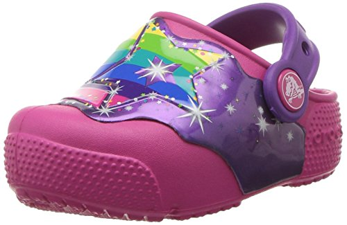 Crocs Fun Lab Lights Clog Kids, Unisex - Kinder Clogs, Mehrfarbig (Multi Stars), 27/28 EU