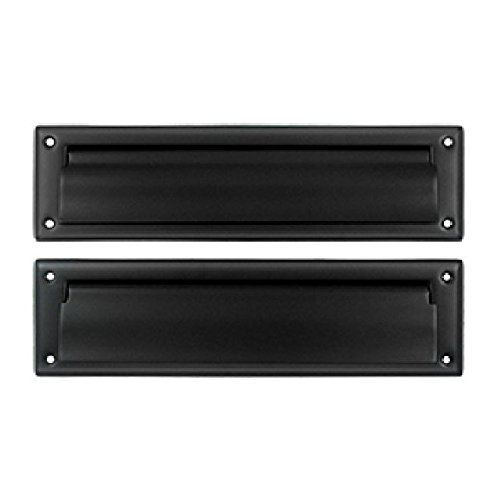 Deltana MS212U19 13 1/8-Inch Mail Slot with Solid Brass Interior Flap by Deltana