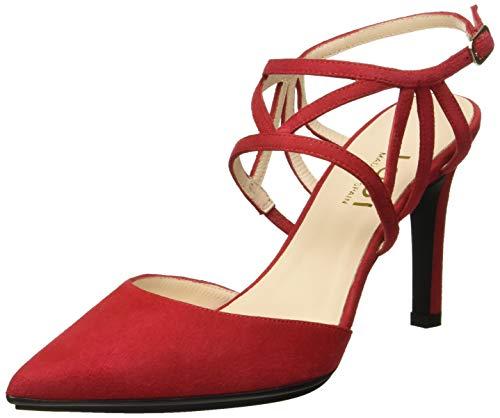 Lodi RAIDIS-TP, Zapatos de tacón con Punta Cerrada para Mujer, Rojo Ante Tristan Ante Tristan, 37...