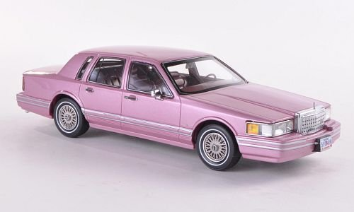 lincoln-town-car-metallic-rosa-1990-modellauto-fertigmodell-neo-limited-300-143