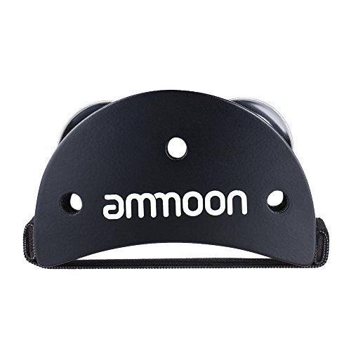 ammoon Elliptical Cajon Box Drum Companion Zubehörfuß Klingel Tambourine für Handschlaginstrumente Schwarz