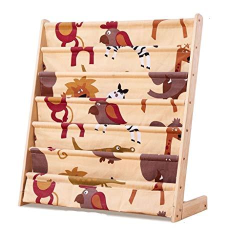 Schränke Kinder Bücherregal Große Kapazität Holzboden Bücherregal Kindergarten Mehrschichtige Lagerschrank Baby Zimmer Spielzeug Lagerschrank (Color : A, Size : 75 * 30 * 79cm) - Mini Baby Schrank