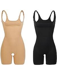 2 Unidades Libella Body Faja Modeladora Reductora faja de mujer que realzan tu figura con efectos vientre plano y con la puntera reforzada 3602 Negro+Beige XL/XXL