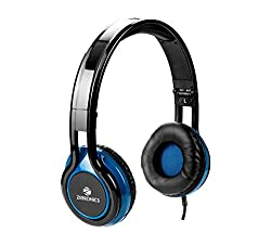 Zebronics ZEB-BUZZ Wired Headset Headphone 3.5 mm with mic | Soft Padded Cup over Ear