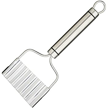 """KitchenCraft Professional Stainless Steel Crinkle Chip Cutter, 21 x 8 cm (8.5"""" x 3"""")"""