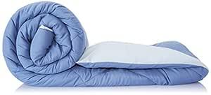 Amazon Brand - Solimo Microfibre Reversible Comforter, Double (Stone Blue & Silver Grey, 200 GSM)