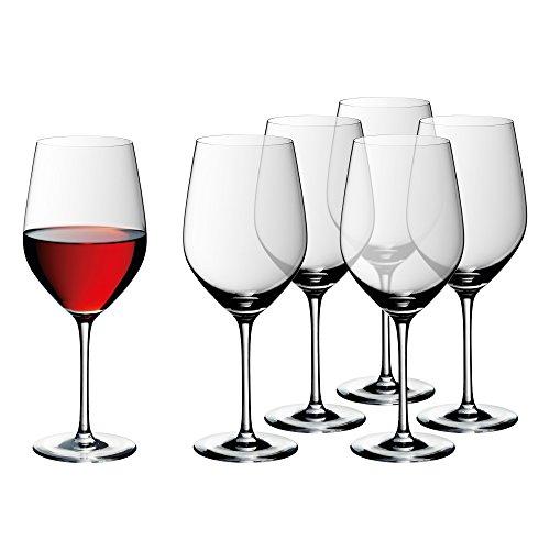 WMF easy Plus Bordeaux Weingläser-Set, 6-teilig, 630ml, Kristallglas, spülmaschinengeeignet,...