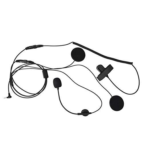 Helm Mic Single 3.5mm Radio Walkie-Talkie Motorrad Fahrrad Racing Integralhelm Headset Kopfhörer