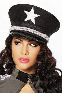 Offiziers-Mütze Mütze schwarz, Größe Atixo:OS