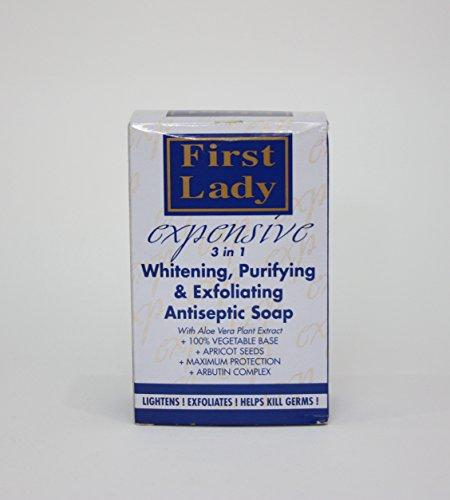 200g Bar (First Lady EXCLUSIVE Skin Whitening Lightening Peeling Seife Antiseptische 7 Unzen / 200g Bar / First Lady Skin Whitening Lightening Exfoliating Antiseptic Soap 7 oz / 200g Bar)
