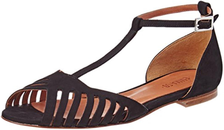 Emma Go Lily, Sandali con Cinturino alla Caviglia Donna, nero (Nubuck nero), 41 EU | Adatto per il colore  | Uomini/Donne Scarpa