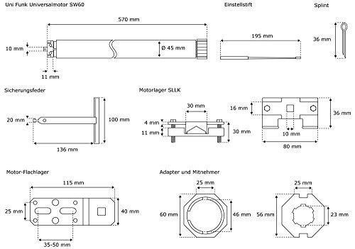 JAROLIFT Elektromechanischer Universalmotor Uni 60 Funk - 2