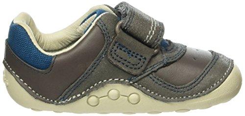 Clarks Jungen Tay Grau grey Krabbelschuhe Leather Baby Tiny ZSq1wZ8