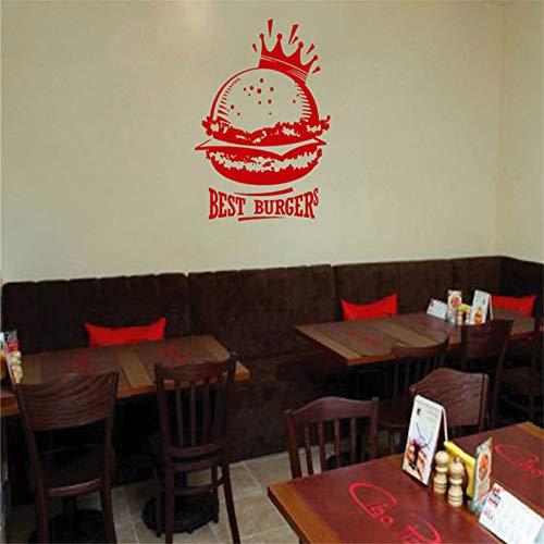 Syssyj Kinderzimmer Wand Aufkleber Aufkleber Fast Food Hamburger Fast Food Snack 44 * 70C