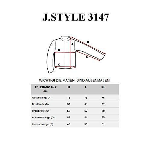 BOLF Herrenjacke mit Kapuze Sweatjacke Übergangsjacke J.STYLE MIX Dunkelblau_3147