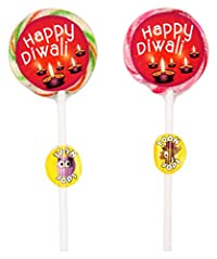 TOONPOPS LOLLIPOPS TPHD25R Happy Diwali Lollipops, 300 Grams (Pack of 12)