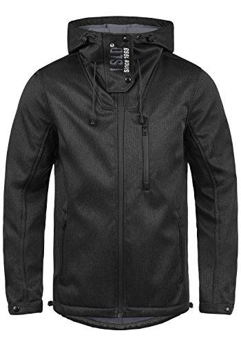 !Solid Iacopo Herren Softshell Jacke Funktionsjacke Übergangsjacke Mit Kapuze Und Fleece-Futter, Größe:S, Farbe:Black (9000)