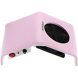 Anself Aspirador de polvo para uñas de limpieza para manicura,Sin ruido,220V 30W,enchufe UE