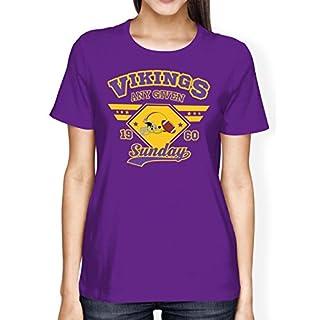 Any Given Sunday Vikings Premium T-Shirt | American Football | An jedem verdammten Sonntag | Super Bowl | Frauen | Shirt © Shirt Happenz, Farbe:Lila (Dark Purple L191);Größe:L