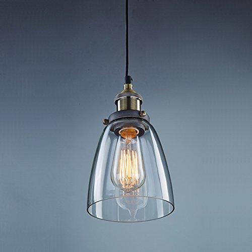 CLAXY Deckenleuchte E27 Pendelleuchte, Φ14cm Lampenschirm aus Glas, Vintage-Design, Industrie-Look Glas Lampenschirme Für Deckenleuchten
