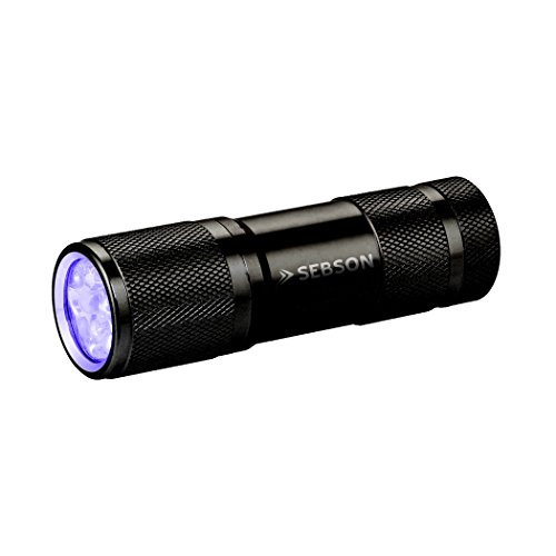 SEBSON Lampe de Poche UV, Ultraviolet, 390-395nm, Lampe Torche LED, Ø30x94mm