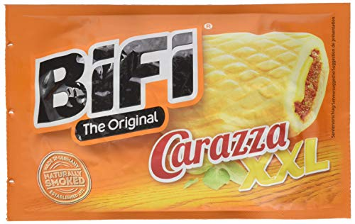 BiFi Carazza Original XXL - Herzhafter Pizzasnack zum Mitnehmen - 16er Pack (16 x 75 g)