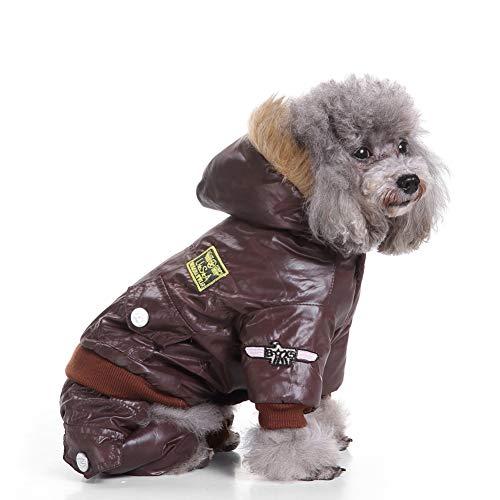Smoro Abrigo de Invierno Chalecos Chaquetas Traje de Nieve Ropa de Cuatro Patas de la Fuerza aérea para Perros pequeños medianos Grandes