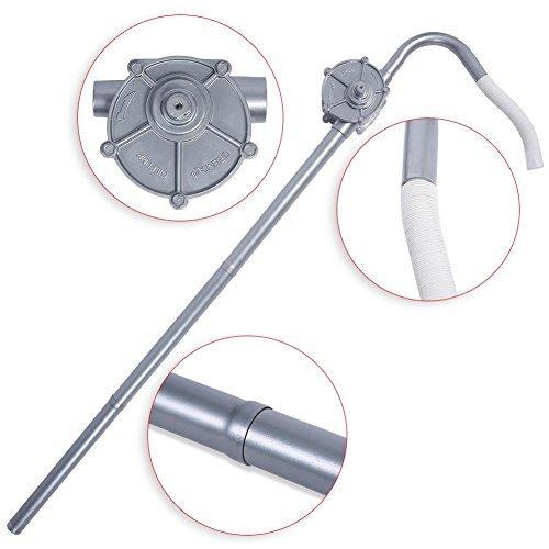 Pompa Travaso Liquidi Rotativa 29 L/Min Pompa Olio Manuale Rotativa Auto Pompa, Olio Barile Pompa Manuale in lega di alluminio, Pompa di Benzina Diesel Fuel Too