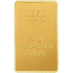 Bangalore Refinery 5 gm, 24k (999.9) Yellow Gold Bar