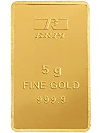 Bangalore Refinery 24k (999.9) 5 gm Yellow Gold Bar
